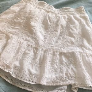 American Eagle Outfitters Skirts - American Eagle White Eyelet Set